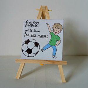 Minimagnet cu mesaj amuzant pictat manual