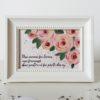 Tablou trandafiri pictat manual personalizat cu mesaj unii oameni