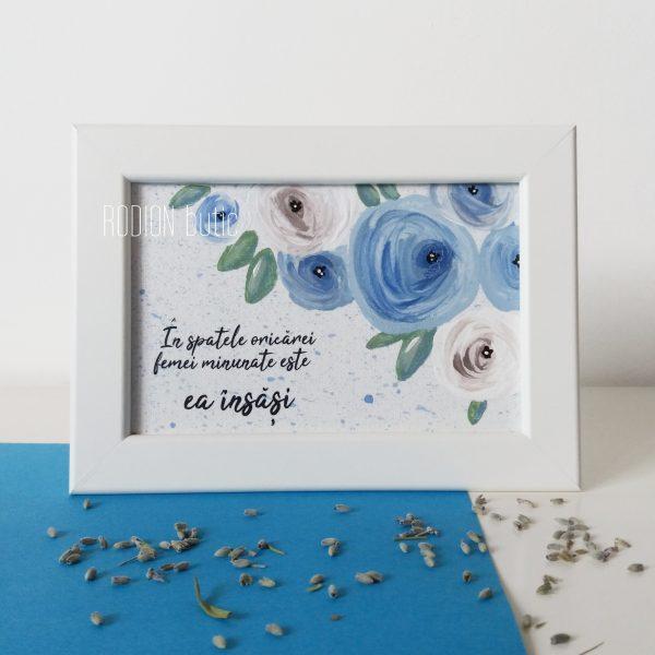 Tablou personalizat trandafiri pictat manual cu mesaj