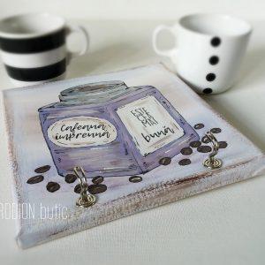 Suport cesti cafea cuier chei personalizat pictat manual