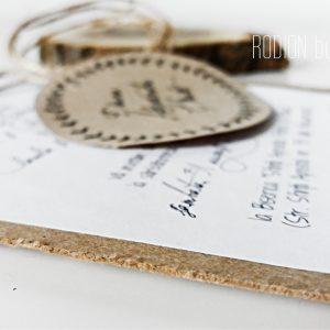 Invitatii nunta rustice vintage handmade kraft neconventionale