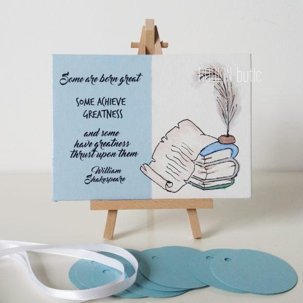 Placuta engleza profesor absolvire pictata manual personalizata cu mesaj