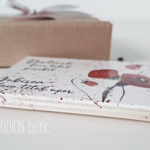 Marturii maci nunta handmade pictate personalizate magnetice