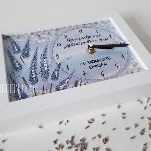 Cadou pentru nasi personalizat cu mesaj pictat manual lavanda