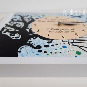 Ceas metafora vietii carti pictat manual personalizat cu mesaj