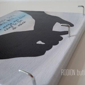 Cuier cuplu pictat manual personalizat cu mesaj