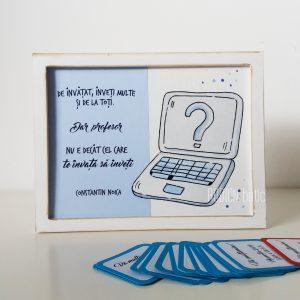 Placuta informatica cadou absolvire pictata manual personalizata cu mesaj