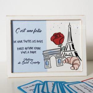Placuta franceza cadou absolvire pictata manual personalizata cu mesaj
