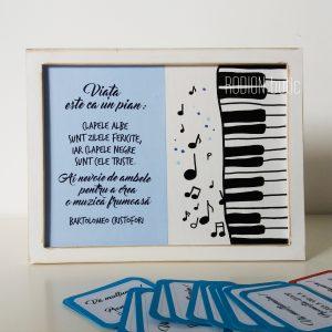 Cadou profesor muzica absolvire pictat manual personalizata cu mesaj
