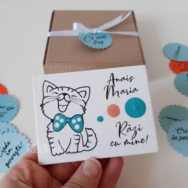 Magneti botez magneti pisicuta personalizate pictate manual handmade