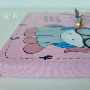 Ceas unicorn pictat manual personalizat cu mesaj si nume