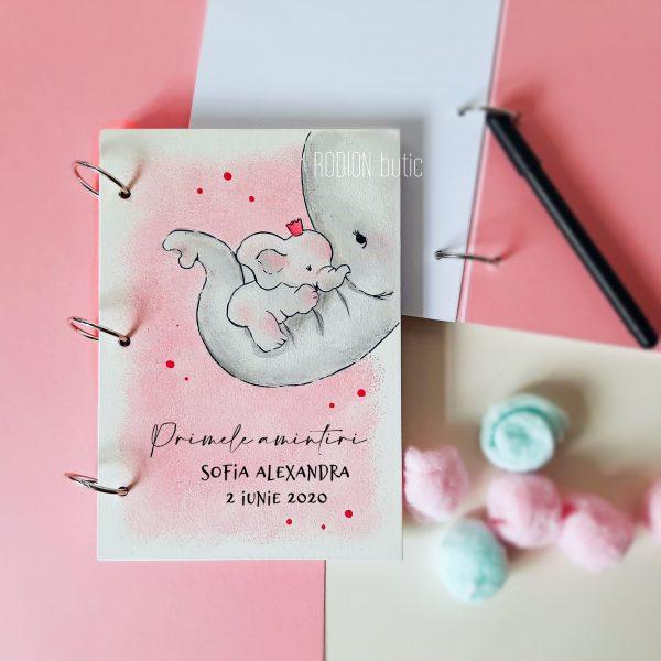 Caiet pentru amintiri fetita personalizat cu nume pictat manual