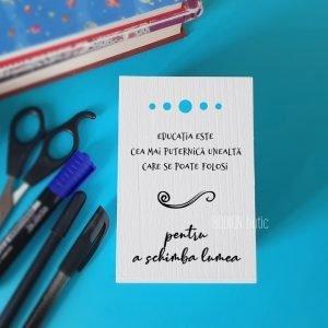 Suport pixuri bufnita pictat manual personaliat cu nume si mesaj