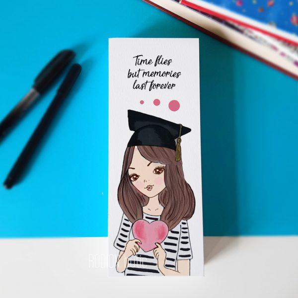 Penar pictat manual fata absolvire personalizat cu mesaj